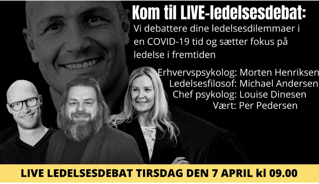 Ledelsesdebat live – tirsdag den 7 april kl 09.00